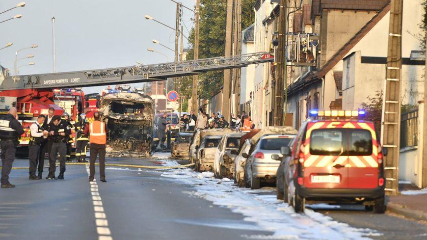 Bus brûlé le 19 octobre 2018 à La Chapelle Saint Mesmin