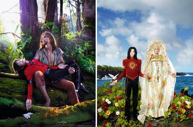 David LaChapelle, American Jesus: Hold Me, Carry Me Boldly, et The Beatification: I'll Never Let You Part For You're Always In My Heart 2009. © Adagp, Paris 2018