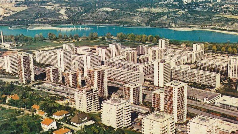 Belle vue aérienne du quartier de la Fontaine d'Ouche à Dijon