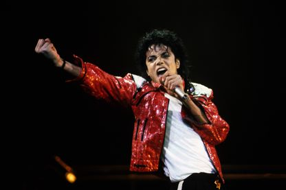 "Michael Jackson, the ""king of pop"", en concert en 1986."