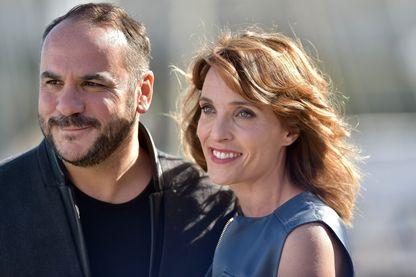 François-Xavier Demaison et Alix Poisson, au Festival de la fiction TV de La Rochelle (16 septembre 2017)