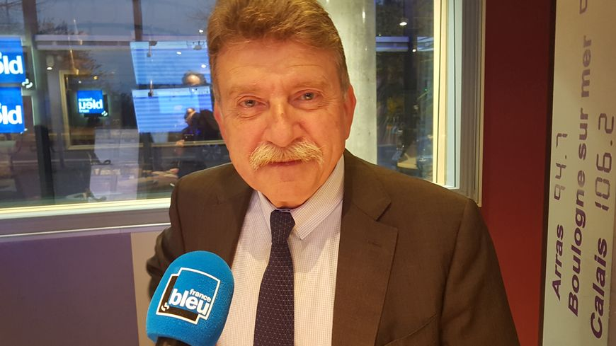 Michel Lalande, le préfet du Nord dans les studios de France Bleu, à Lille, le 16 novembre 2018