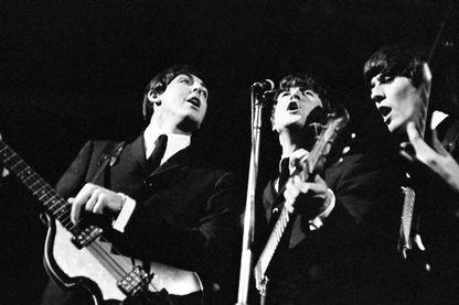 Les Beatles sur scène en novembre 1964