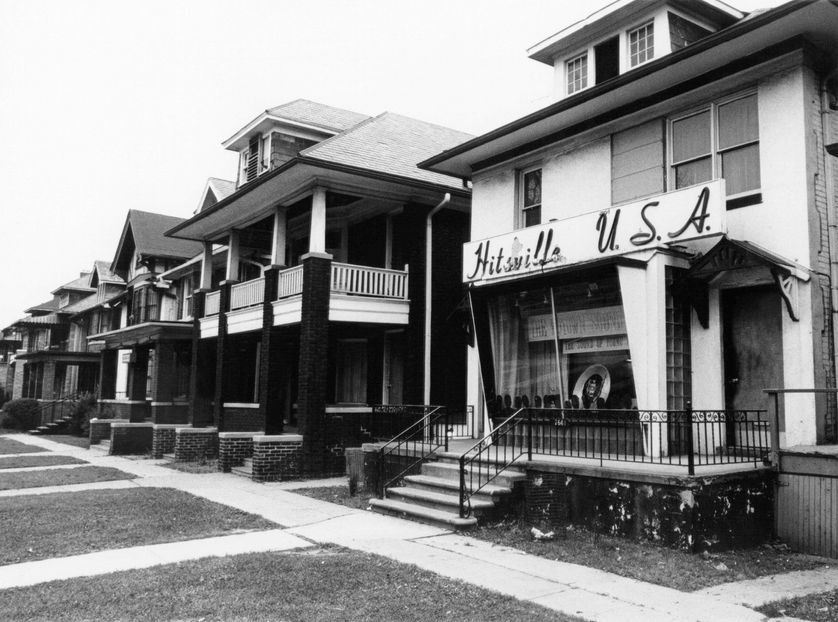 Der Hauptsitz von Motown Records, circa 1965, in Detroit, Michigan