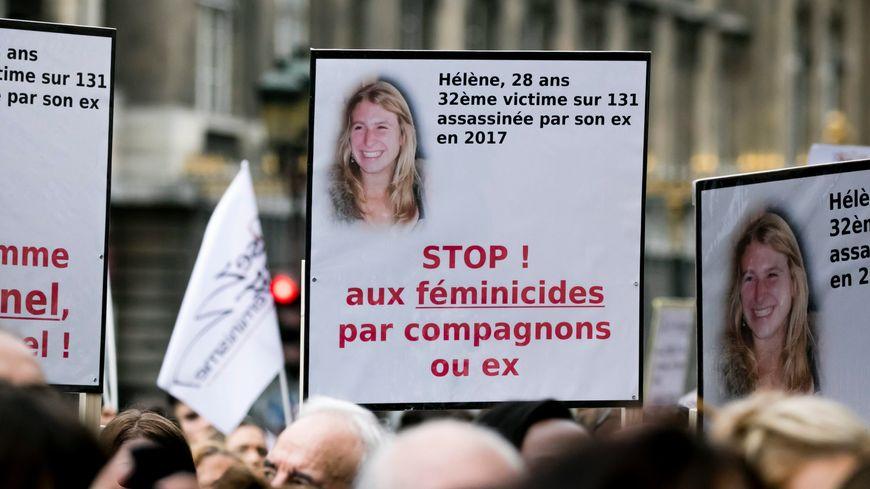 Rassemblement contre les violences faites aux femmes le 6 octobre 2018 à Paris.