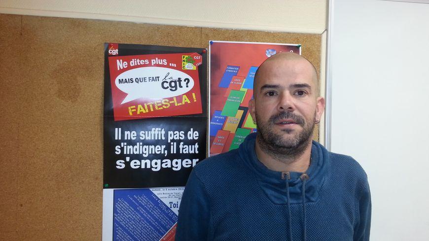 Sébastien Martineau, secrétaire de l'union départementale CGT du Cher