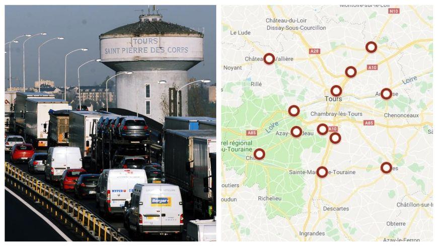 Carte Blocage 17 Novembre Bourgogne.Carte Gilets Jaunes Les Rassemblements Prevus En Indre Et Loire