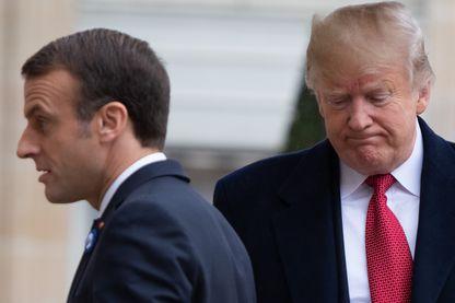 Emmanuel Macron et Donald Trump, le 10 novembre à Paris, à la veille des cérémonies de la fin de la Première guerre mondiale.