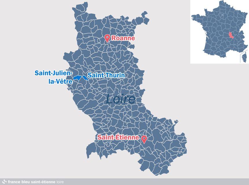 Saint-Thurin et Saint-Julien-la-Vêtre formera la commune de Vêtre-sur-Anzon dès le 1er janvier 2019, dans la Loire