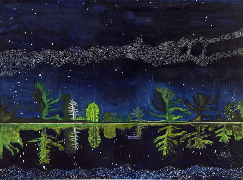 Peter Doig Milky Way 1989-90 - Huile sur toile  152x204 cm - Scottish National Gallery of Modern Art