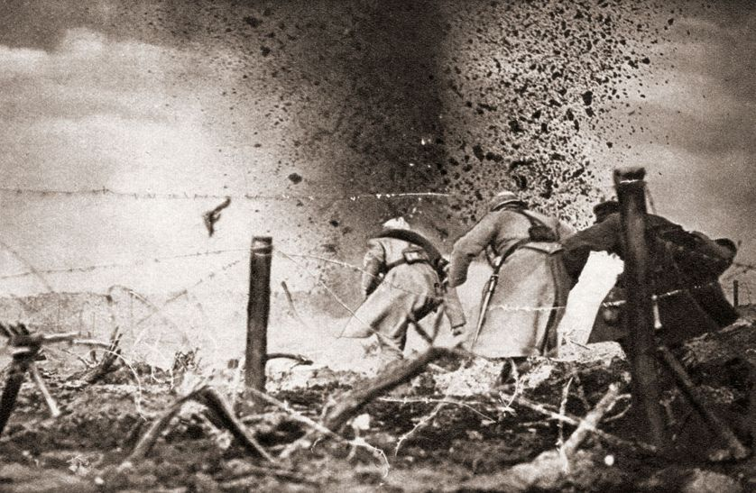 Des soldats français combattant sur le front, au nom de la patrie, durant la Grande Guerre.