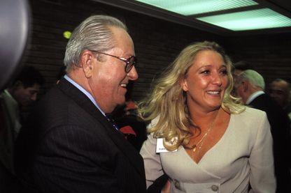 Jean-Marie Le Pen au premier tour de la présidentielle le 23 avril 1995