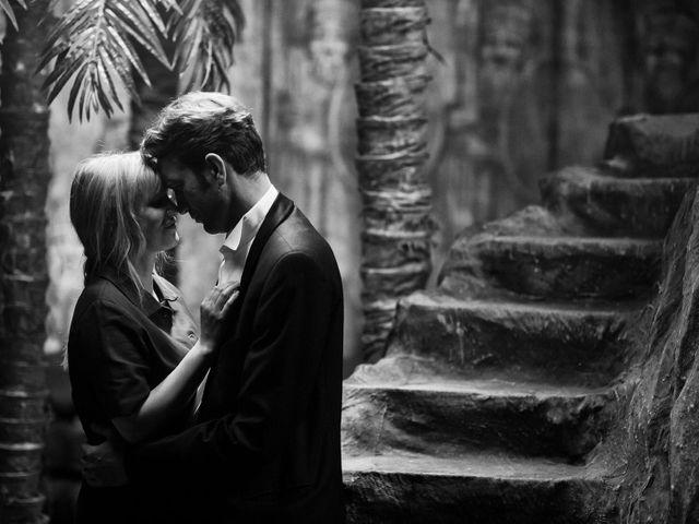 """Joanna Kulig et Tomasz Kot, sur le tournage de """"Cold War"""" de Paweł Pawlikowski, film dramatique polonais sur un amour impossible en pleine Guerre Froide."""