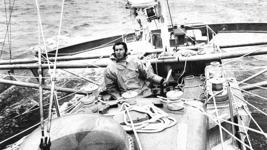 Alain Colas à bord du Manureva