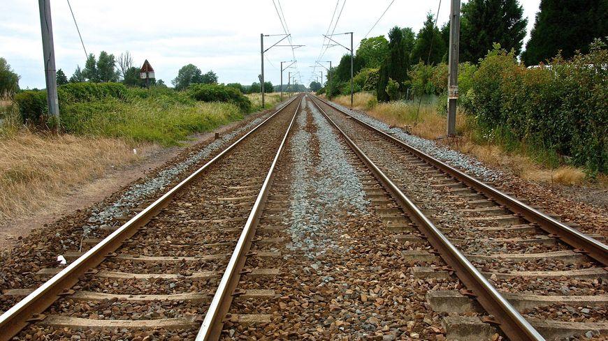 Une voie ferrée (illustration)
