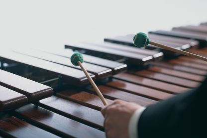 Marimba : xylophone africain
