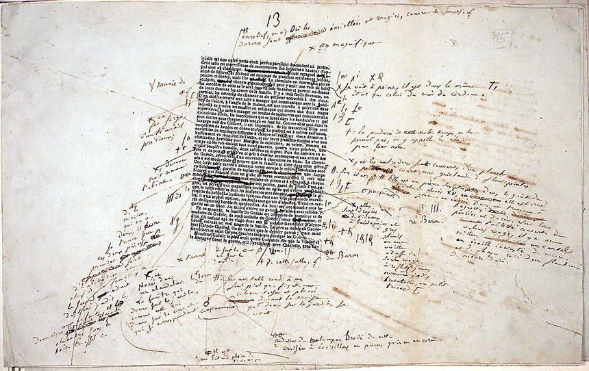 Un brouillon de Balzac