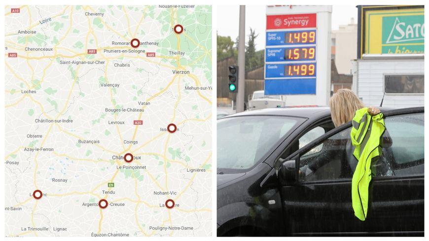 Carte Blocage Alsace 17 Novembre.Carte Gilets Jaunes Les Blocages Prevus Dans L Indre Et