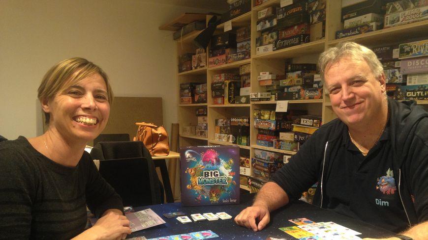 Anne-Catherine et Dimitri Perrier, les créateurs du jeu Big Monster