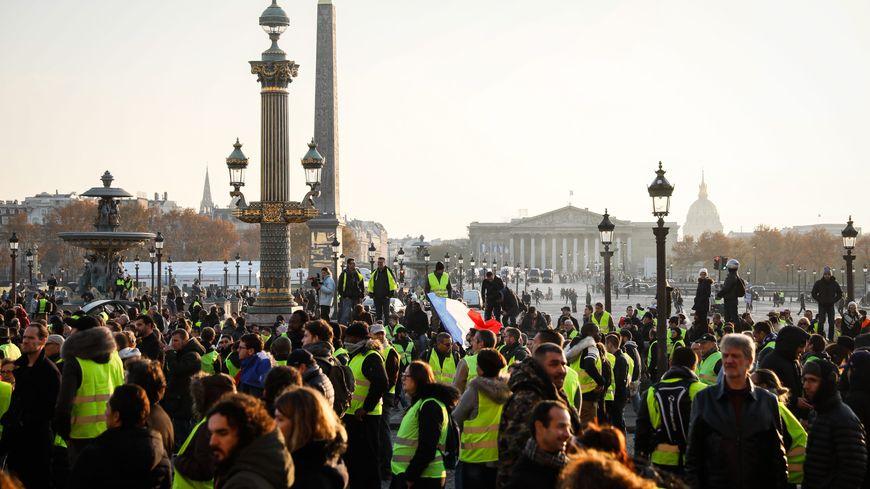 Gilets jaunes : manifestation du 17 novembre 2018 à Paris.