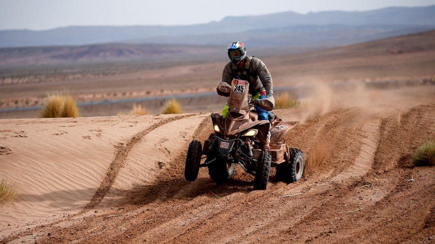 Le pilote de quad Axel Dutrie lors du Dakar 2018, en Bolivie