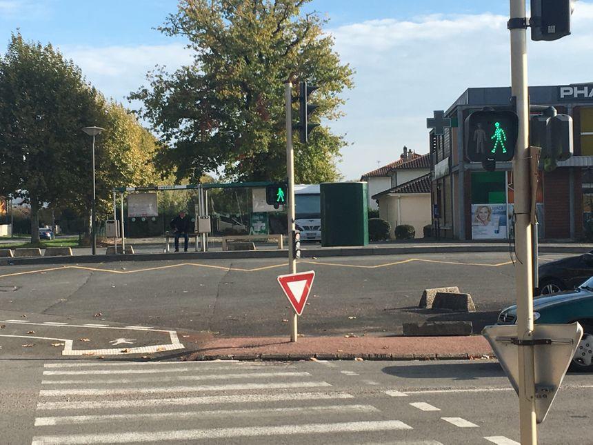 L'arrêt de bus des Garennes à Trélissac.