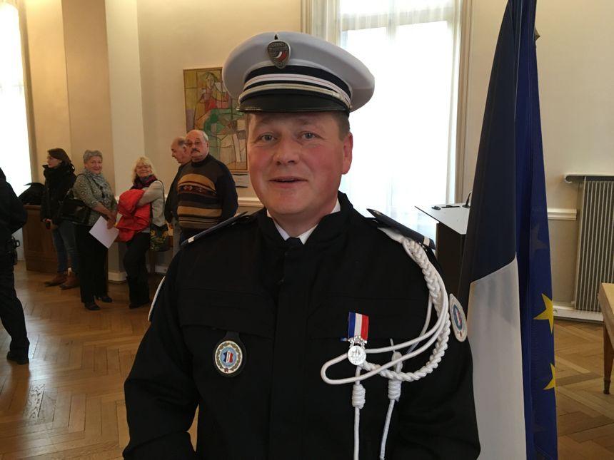 Cyril L., affecté à la brigade de nuit de Belfort a été le premier à intervenir sur les lieux de l'incendie.