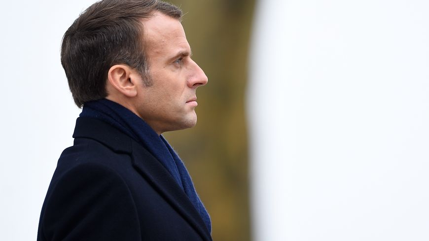 Emmanuel Macron à Morhange en Moselle, lundi 5 novembre.