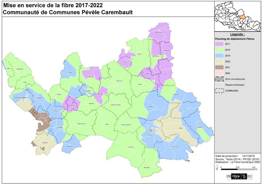 Le déploiement se fait petit à petit par zones. Des zones qui ne sont pas calquées sur les contours administratifs des communes.