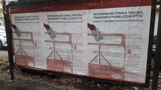 Les romains se prononcent dimanche sur les transports publics