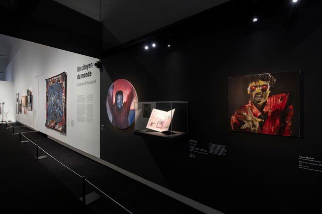 Vue de l'exposition Michael Jackson : On the Wall. Scénographie Agence Clémence Farrell © Rmn-Grand Palais.