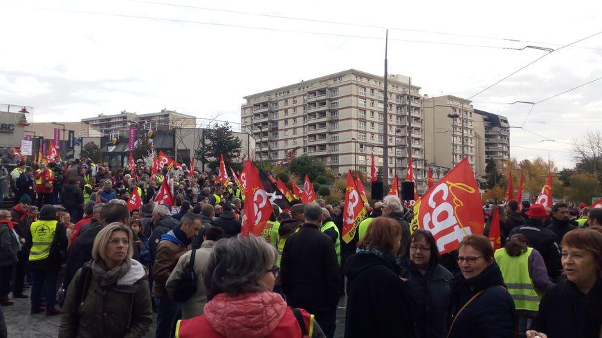 Environ 500 personnes ont manifesté pour le pouvoir d'achat ce jeudi à Orléans