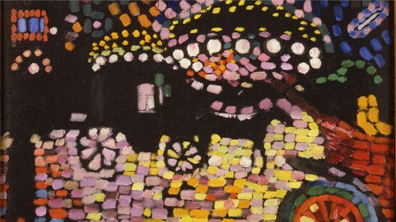 Robert Delaunay, Paysage Nocturne (le fiacre), 1906/1907 Huile sur toile, 43 x 58 cm Collection particulière, Courtesy Galerie Louis Carré & Cie