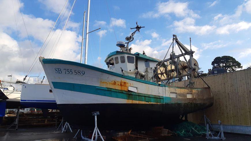 Le bateau a été renfloué ce vendredi matin