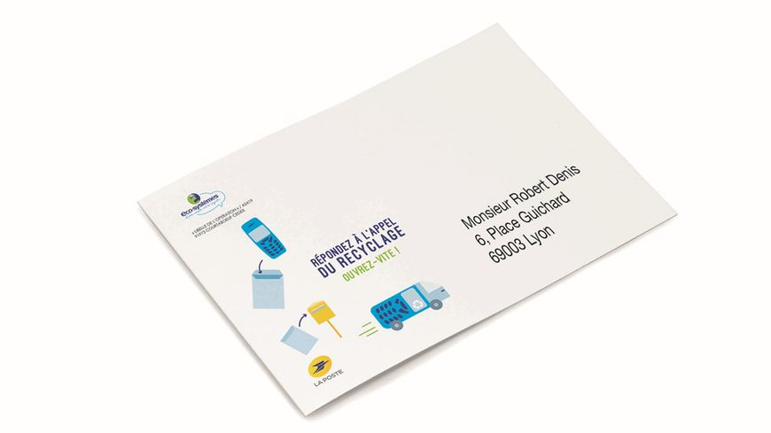 Courrier type envoyé par l'organisme Eco-systèmes à plus de 110 000 foyers en Auvergne-Rhône-Alpes
