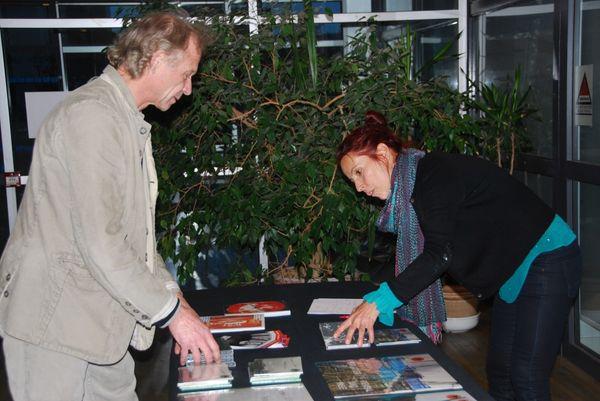 Franz Hautzinget et Isabelle Duthoit préparant le festival