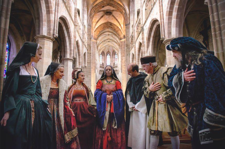 Julien Danielo a déjà fait plus de 50 photos sur les 100 qu'il a prévu pour son livre, dont celle-ci sur Anne de Bretagne