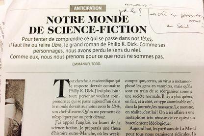 """""""Notre monde de science-fiction"""", Emmanuel Todd, Revue Books"""