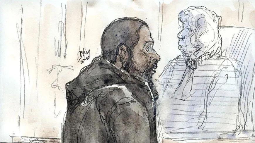 Portrait de Peter Cherif lors de son procès en France en 2011.