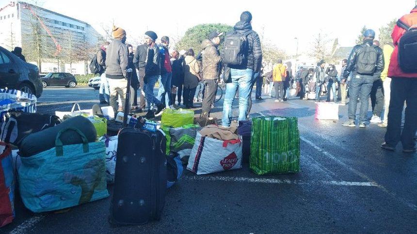 Les migrants à l'université de Nantes.