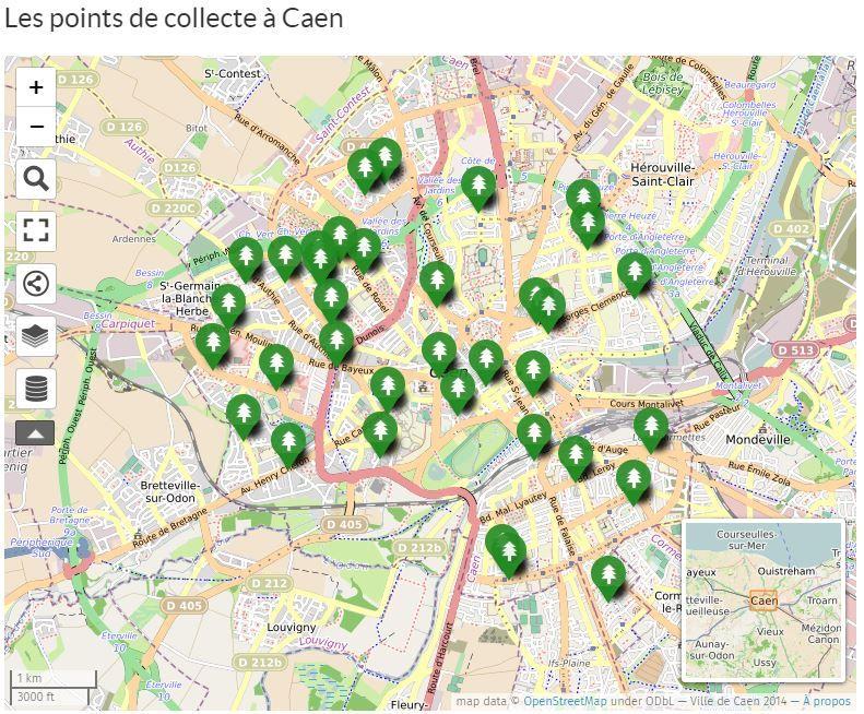 Capture d'écran sur le site caen.fr