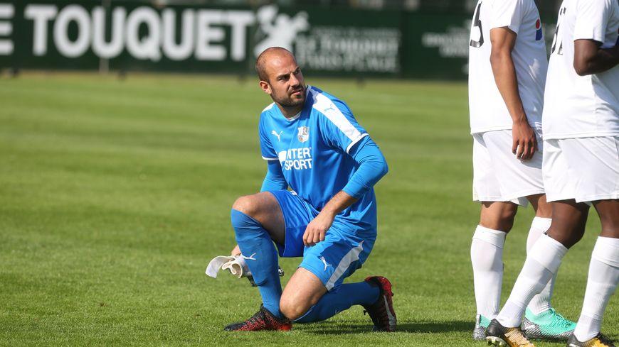 Mathieu Dreyer, l'habituel gardien remplaçant de l'Amiens SC, titulaire contre l'Olympique Lyonnais