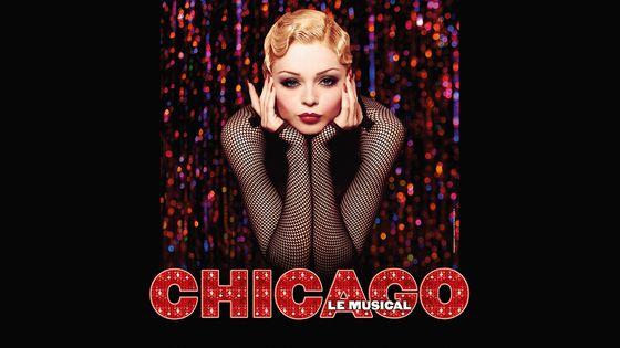 """Affiche de la Comédie Musicale """"Chicago"""" actuellement à l'affiche du Théâtre Mogador"""