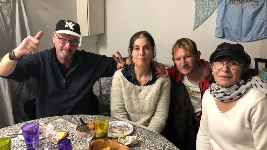 Erick, Delphine, Jimmy et Dominique ont passé l'un des meilleur Noël de ces dernières années