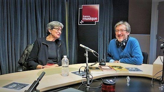 France Musique, studio 131... La musicienne Sharon Kanach, spécialiste de Giacinto Scelsi & Le producteur Arnaud Merlin