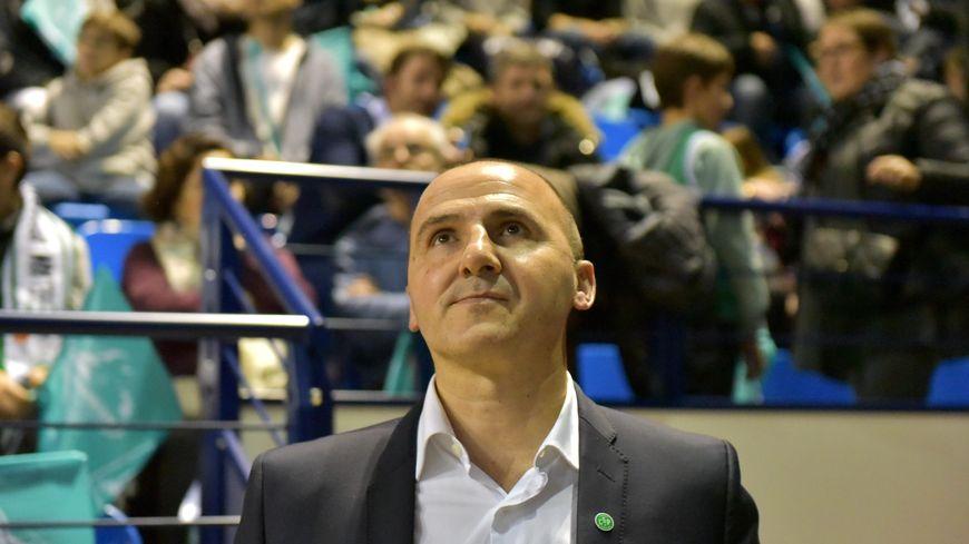 Frédéric Forte, ancien joueur puis Président emblématique du Limoges CSP (photo janvier 2017), décédé brutalement le 31 décembre 2017