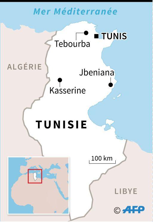 Kasserine, Tebourba et Jbeniana, principales localités où se sont produits des heurts entre manifestants et forces de l'ordre depuis lundi.