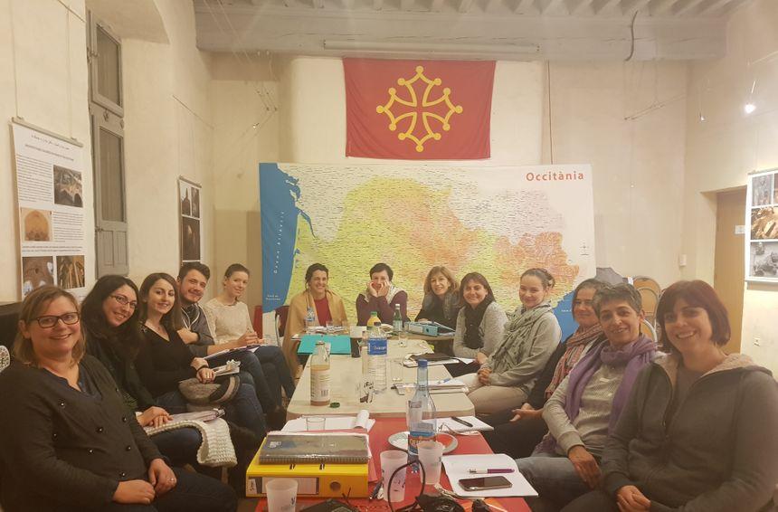 Réunion de l'équipe d'Arcanèl à l'Ostal d'Occitània à Toulouse le 5 décembre 2018