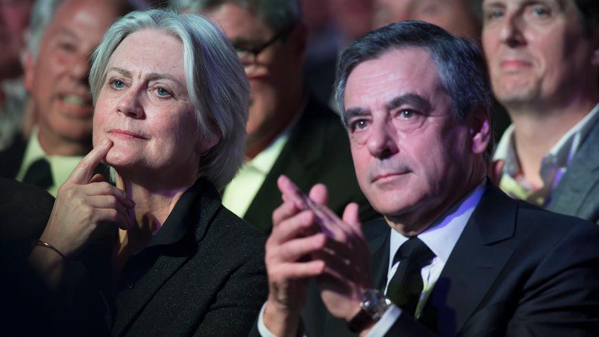 Penelope et François Fillon à Paris le 9 avril 2017