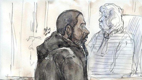 Le djihadiste Peter Cherif lors de son procès à Paris en 2011